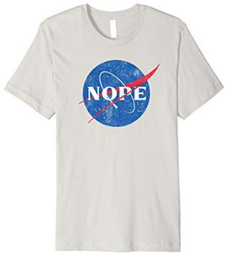 NOPE to NASA T-shirt Space Hoax Parody Moon Landing ISS Ball