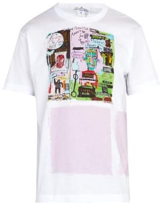 Comme des Garcons Jean Michel Basquiat Print Cotton T Shirt - Mens - White Multi
