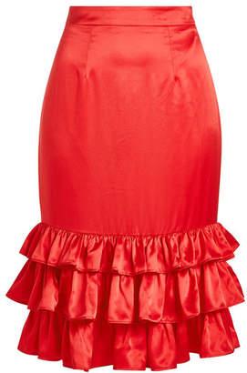 M·A·C Maggie Marilyn Billi Mac Satin Skirt