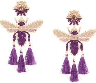 Mercedes Salazar Volador Purpura fringe drop earrings