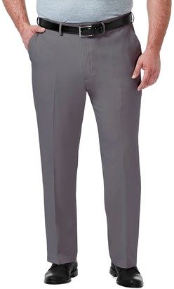 Haggar Big & Tall Premium Comfort Expandable-Waist Classic-Fit Stretch Flat-Front Dress Pants