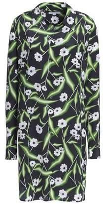 Equipment Brett Floral-print Washed-silk Mini Shirt Dress