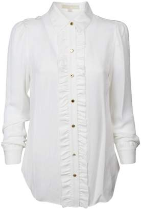 MICHAEL Michael Kors Ruffle Trim Shirt