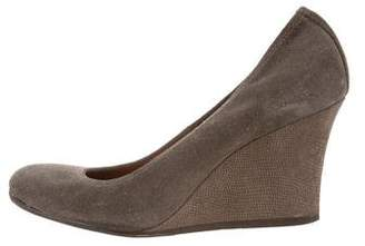 Lanvin Suede Wedge Pumps