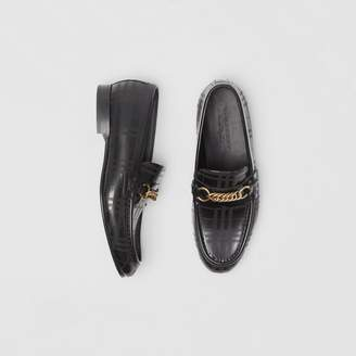 Burberry The Perforated Leather Link Loafer