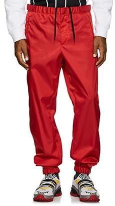 Prada Men's Rubber-Cuff Jogger Pants - Red