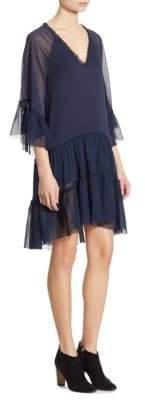 Alice + Olivia Zoey Ruffled Tiered Dress