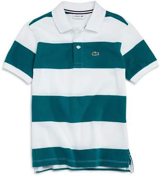 Lacoste Boys' Striped Pique Polo