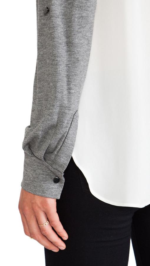Derek Lam 10 CROSBY Double Collar Shirt