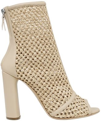100mm Woven Open Toe Ankle Boots $795 thestylecure.com