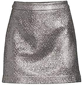 Milly Women's Metallic Mini Skirt