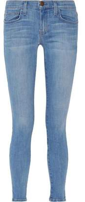 Current/Elliott Low-Rise Faded Skinny Jeans