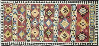 """One Kings Lane Vintage Azerbaijan Gallery Kilim - 4'11"""" x 11' - Eli Peer Oriental Rugs"""