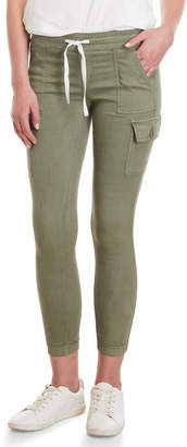 Vip Jeans Light Olive Twill Cargo Joggers