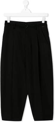 Diesel pleated wide leg trousers
