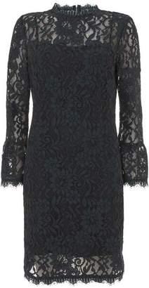 Mint Velvet Khaki Lace Shift Dress