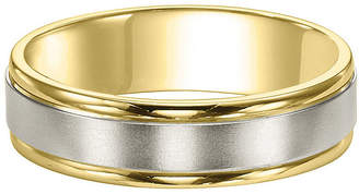 MODERN BRIDE Unisex 6mm 14K Two Tone Gold Wedding Band