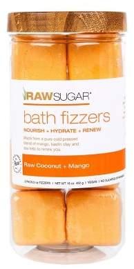 Raw Sugar Bath Fizzers Raw Coconut + Mango - 8ct