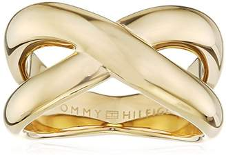 947410f24 Tommy Hilfiger Women's Gold-Plated Stainless-Steel Smooth Twist Ring - Size  B