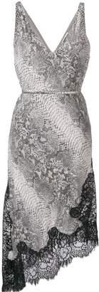 Gold Hawk grey python dress