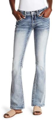 Vigoss Light Wash Embellished Boot Cut Jeans