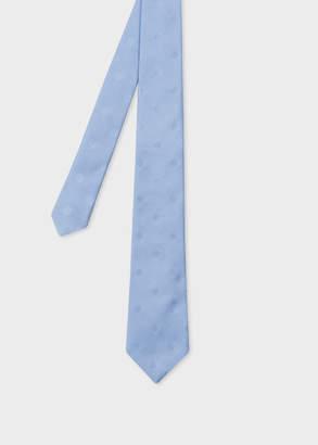 Paul Smith Men's Light Blue Polka Dot Narrow Silk Tie