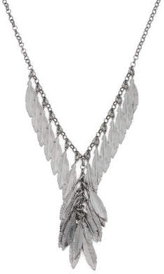 Made In Italy Plated Sterling Silver Feather Necklace