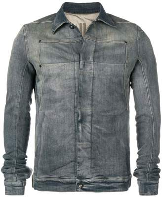 Rick Owens faded denim jacket