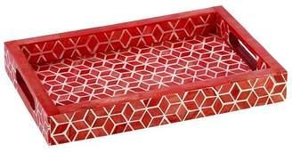 """Mela Artisans Marsala Red Tray """"Starshine"""""""