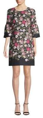 Karl Lagerfeld Paris Floral-Print Shift Dress