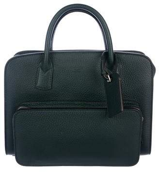 Giorgio Armani Grained Leather Briefcase w/ Tags