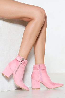 Nasty Gal You Make My Heart Ring Faux Suede Boot
