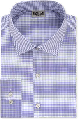 Kenneth Cole Reaction Men's Techni-Cole Slim-Fit Flex Collar Three-Way Stretch Performance Purple Check Dress Shirt