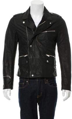 Alexander McQueen Collared Leather Biker Jacket