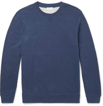 Sunspel Brushed Loopback Cotton-Jersey Sweatshirt - Navy