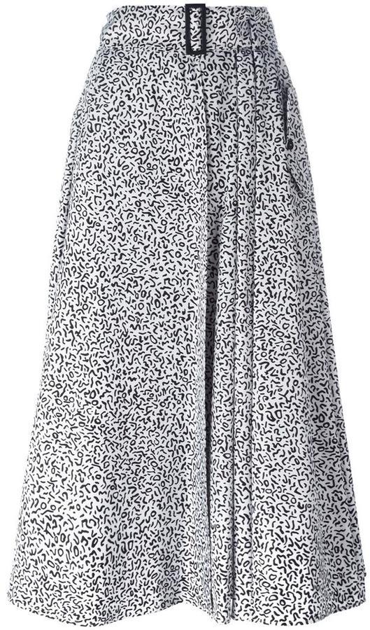 Max MaraMax Mara leopard print mid skirt