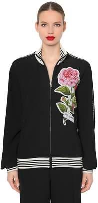Dolce & Gabbana Logo Bands Zip-Up Cady Sweatshirt