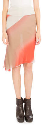 Rick Owens Degrade-Print Midi Skirt, Coral