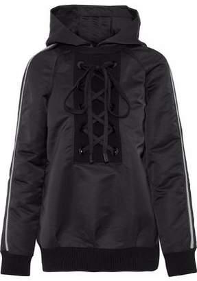 NO KA 'OI Nele Lace-Up Striped Shell Hooded Jacket