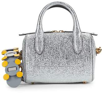 Anya Hindmarch Mini Vere Metallic-Leather Barrel Crossbody Bag