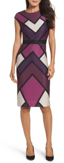 Women's Vince Camuto Scuba Body-Con Dress