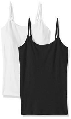acf474a8cb5b5 Ellen Tracy Women s 2 Pack Cotton Shelf Bra Camisole