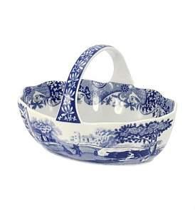 Spode Blue Italian Handled Basket
