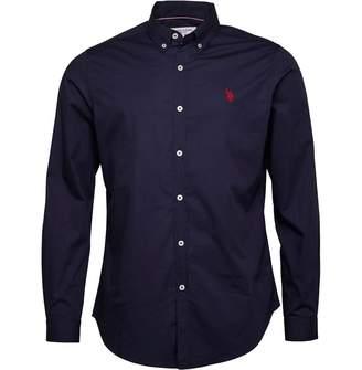 U.S. Polo Assn. Mens Clara Long Sleeve Shirt Medieval Blue