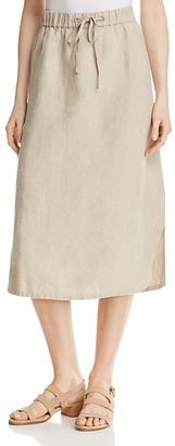 Eileen Fisher Organic Linen Drawstring Skirt $198 thestylecure.com