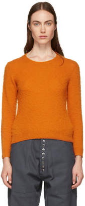 Acne Studios Orange Shrunken Fit Crewneck Sweater