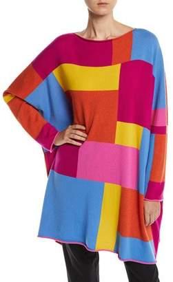 eskandar Boat-Neck Geo-Intarsia Colorblock Cashmere Pullover Sweater