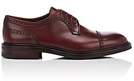 Carmina Shoemaker Men's Cap-Toe Leather Bluchers-Wine