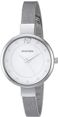 Swarovski Armitron Women's 75/5465WTSV Crystal Accented -Tone Mesh Bracelet Watch