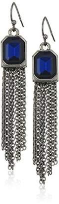 T Tahari HEM MNT FH W Chain Fringe Drop Earrings